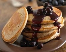 Oaty Pancakes with Blueberry Sauce