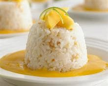 Sticky Coconut Rice with Almonds