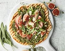 Pesto and Prosciutto Flatbread