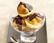 Profiteroles with Hot Chocolate