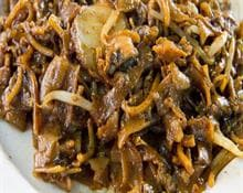 Black Bean Pork with Noodles