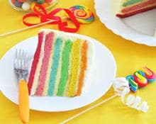 Rainbow Candle Cake Prospero recipe by Kenwood New Zealand