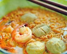 Spicy Prawn Cakes and Noodles