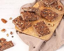 Chocolate and Peanut Butter Granola Bars