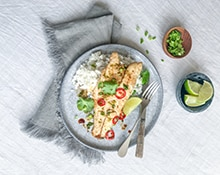 Thai-style Sea Bass with Coconut Rice