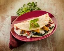 Flat Bread with Baked Goats Cheese and Spinach kMix recipe