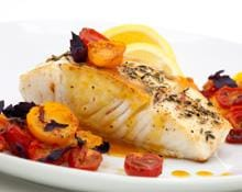 Pan Fried Halibut with Tomato and Herb Salsa