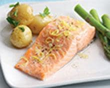 Steamed Salmon and Asparagus