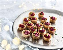 Gluten Free Beetroot and Goats Cheese Cups