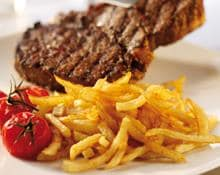 Rump Steak Rub with Straw Potatoes