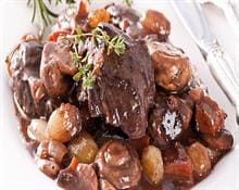 Beef Brisket in Red Wine with Vegetables