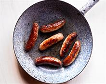Pork, red wine & garlic sausages