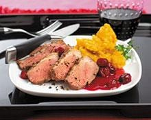 Fruit Glazed Duck Breasts