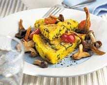 Polenta Verde with Mushroom and Tomato Salsa  recipe by Kenwood NZ