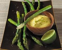 Asparagus with Lime Hollandaise Dressing recipe by Kenwood New Zealand