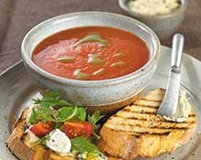 Fresh Tomato Soup with Basil Oil