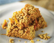 Carrot and Apricot Flapjack listing